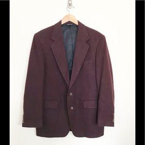 Loro Piana Burgundy Camel Hair Sport Coat 42 L